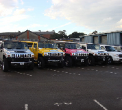 Jeep Limos and 4x4 Limos in Burntisland