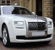 Rolls Royce Ghost - White Hire in Llangefni