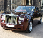 Rolls Royce Phantom - Royal Burgundy Hire in Letham
