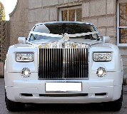Rolls Royce Phantom - White hire  in UK